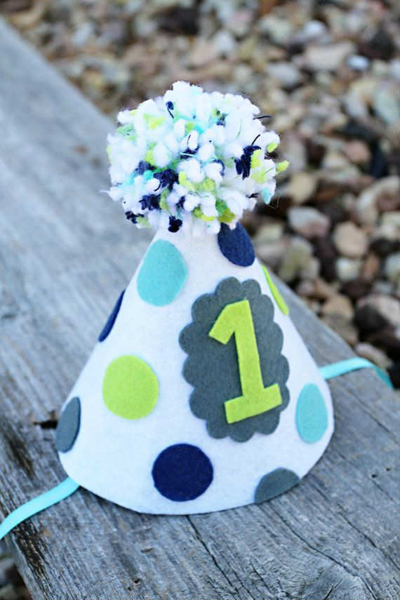 Handmade Felt Polka Dot Party Hat