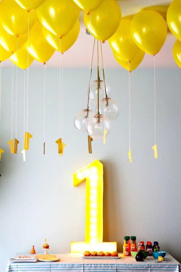 10 1st birthday party ideas for boys part 2 tinyme blog for Balloon decoration ideas for 1st birthday