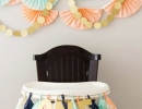 Handmade tissue paper fan garlands | 10 1st Birthday Party Ideas for Girls Part 2 - Tinyme Blog