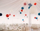 Romantic homemade paper garlands and hang lanterns | 10 4th of July Decoration Ideas - Tinyme Blog