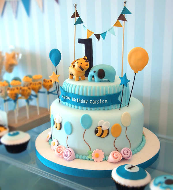 Party Animal 1st Birthday First Birthday Ideas: 10 Adorable Animal Cakes