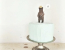 Delightful birthday bear cake topper | 10 Adorable Cake Toppers Part 2 - Tinyme Blog