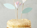 Adorable tulip cake toppers | 10 Adorable Cake Toppers Part 2 - Tinyme Blog