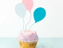 Custom balloon cupcake toppers | 10 Adorable Cake Toppers Part 2 - Tinyme Blog