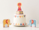 Geo Circus Party Printable Cake Topper | 10 Adorable Cake Toppers Part 2 - Tinyme Blog