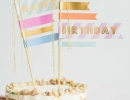 Stylish handmade washi tape flag | 10 Adorable Cake Toppers Part 3 - Tinyme Blog