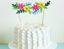 Add some surprise to your cake with floral banner | 10 Adorable Cake Toppers Part 3 - Tinyme Blog