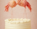 Picture-perfect Flamingos cake topper | 10 Adorable Cake Toppers - Tinyme Blog