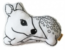Friendly fawn cushion is sure to bring a smile to a loved ones faces | 10 Adorable Kids Cushions - Tinyme Blog
