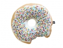 Krispy Dreme donut cushion cream add some fun and whimsy to your space! | 10 Adorable Kids Cushions - Tinyme Blog