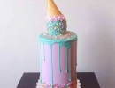 Gorgeous pastel icecream cake | 10 Amazing Drip Cakes - Tinyme Blog