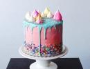 Beautiful meringue rainbow drip cake | 10 Amazing Drip Cakes - Tinyme Blog