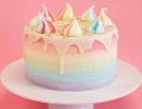 Vibrant rainbow ombre fade cake | 10 Amazing Drip Cakes - Tinyme Blog