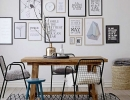 Lovely two tone frames | 10 Amazing Gallery Walls - Tinyme Blog