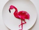 Stunning flamingo dragon fruit | 10 Amazingly Appetising Food Art Designs Part 5 - Tinyme Blog