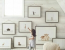 Nursery with cute animal canvas wall art | 10 Animal inspired Kids Bedrooms - Tinyme Blog