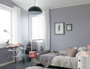 Warm girl room with grey and delicate pink   10 Awesome Tween Bedrooms - Tinyme Blog