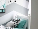 Fun and inviting graphic pattern on the wall   10 Awesome Tween Bedrooms - Tinyme Blog