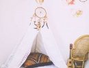Fun and down-right adorable teepee gives a special ethnic touch | 10 Aztec Kids Rooms - Tinyme Blog