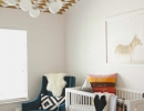 Modern geometric patterns with warm colors and textures | 10 Aztec Kids Rooms - Tinyme Blog