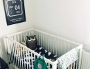 Cute black and white eclectic nursery | 10 Baby Boy Nurseries - Tinyme Blog