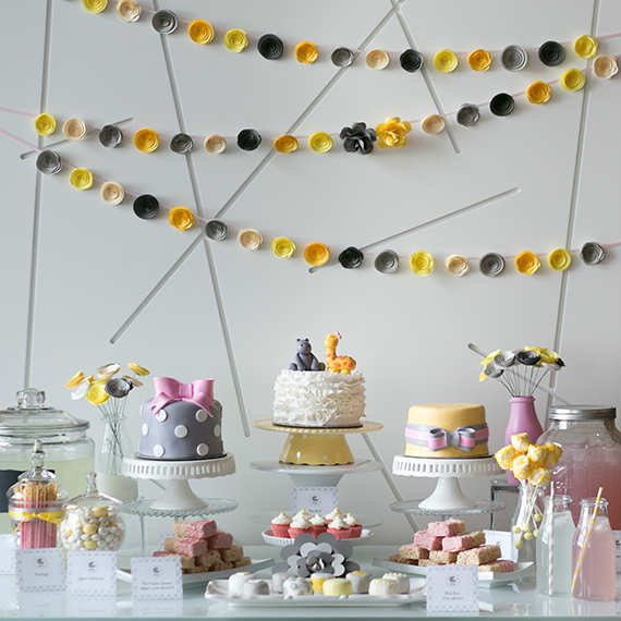 Charming Yellow And Grey Baby Shower |   Tinyme Blog