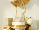 Shimmering gold baby shower | - Tinyme Blog