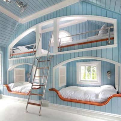 Calming Blue Bedroom Interior Design 10 Best Built In Bunk Beds Tinyme Blog