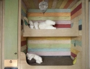 Adorable colorful wooden bunk beds | 10 Best Built-in Bunk Beds - Tinyme Blog