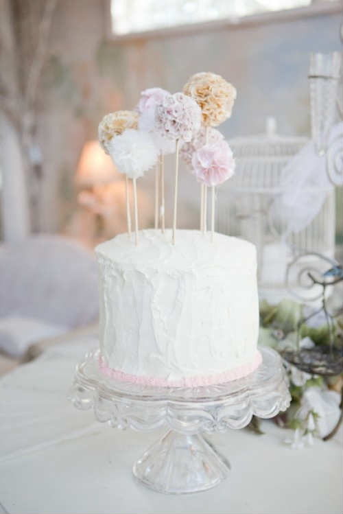 Sweetest Pompom Cake Toppers