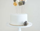 Whimsical ruffled pompom | 10 Birthday Cake Toppers - Tinyme Blog