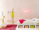 Funky bed with colorful linen box | 10 Brilliantly Bright Neon Kids Rooms - Tinyme Blog