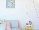 Pastel coloured bedroom sparkles creativity in kids | 10 Brilliantly Bright Neon Kids Rooms - Tinyme Blog