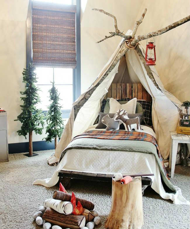 create a calming and relaxing atmosphere for your children 10 camp themed bedrooms tinyme