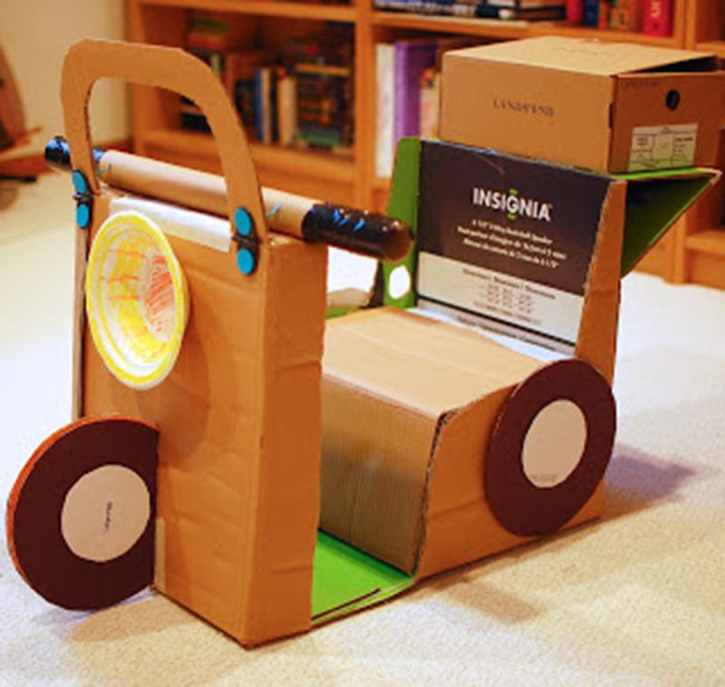 Поделки из картонных коробок своими руками для детей фото
