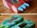 Tissue Box Dinosaur Feet | 10 Cardboard Crafts - Tinyme Blog