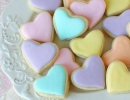 Insanely delicious pastel heart cookies in a jar | 10 Clever Cookies Part 3 - Tinyme Blog