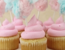 Super fun, super easy pink cotton candy cupcakes | 10 Colourful Cotton Candy Treats - Tinyme Blog