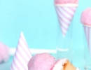Great tasting cotton candy frosted to a cone | 10 Colourful Cotton Candy Treats - Tinyme Blog