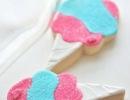 Soft and chewy cotton candy decorated sugar cookies | 10 Colourful Cotton Candy Treats - Tinyme Blog