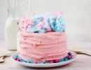 Lovely pink cotton candy layer cake | 10 Colourful Cotton Candy Treats - Tinyme Blog