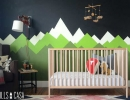 Turn your kid's room into a show-stopping nursery accent walls | 10 Colourful Nurseries - Tinyme Blog