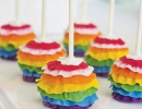 Colourful ruffled cake pops | 10 Creative Cake Pops - Tinyme Blog