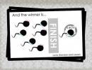 Funny sperm race gender reveal | 10 Creative Gender Reveal Ideas - Tinyme Blog