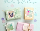 Lovely paper with super cute pastel photo gift tag | 10 Cute and Creative Gift Wrapping ideas - Tinyme Blog