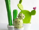 Quirky and fun paper mache cacti | 10 Cute Cactus Projects - Tinyme Blog