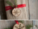 Fantastic etched birch snowflake ornaments | 10 Cute Christmas Crafts - Tinyme Blog