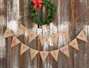 Sweet Christmas burlap banner | 10 Cute Christmas Garlands - Tinyme Blog