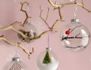 Dressed up glass ornaments | 10 Cute Christmas Ornaments - Tinyme Blog
