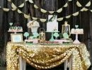 Flashy linen for delicious looking dessert table | 10 Delightful Dessert Table Ideas - Tinyme Blog
